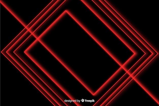 幾何学的なデザインの赤いライトの背景