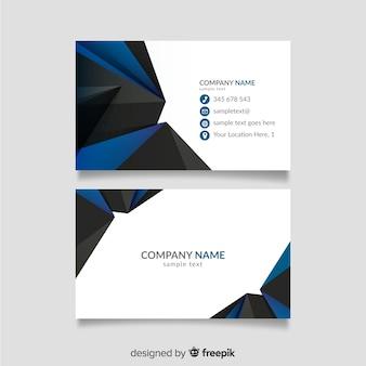 Синий и черный шаблон визитной карточки