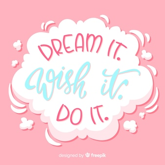 Мотивационные цитаты на белом облаке