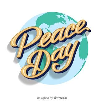 レタリングと平和の日の概念