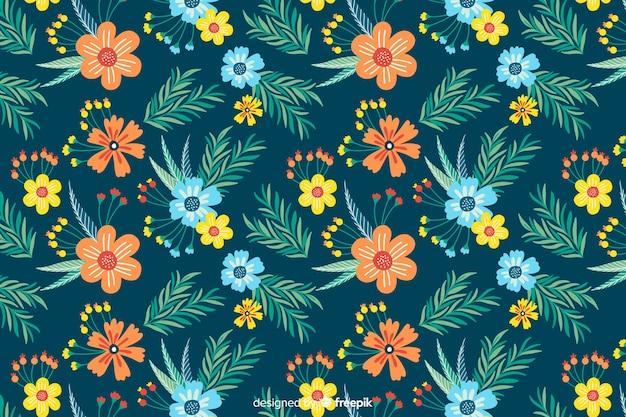 花の背景の美しいスタイル