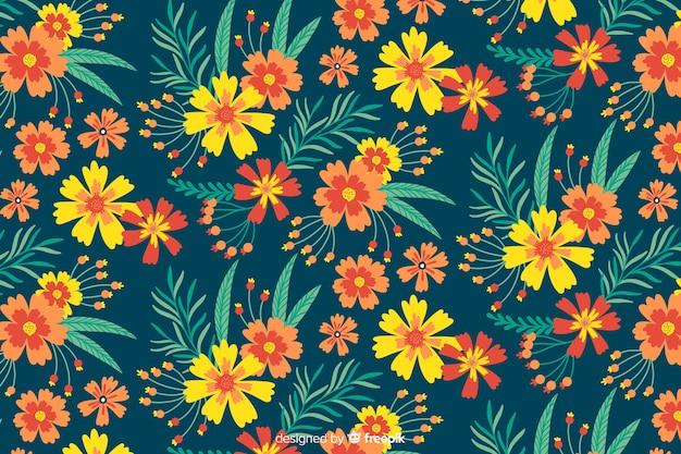 花の背景の美しいデザイン