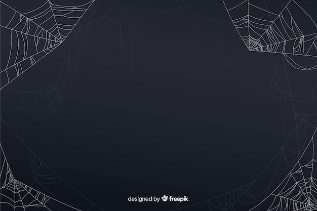 ハロウィーンクモの巣の背景