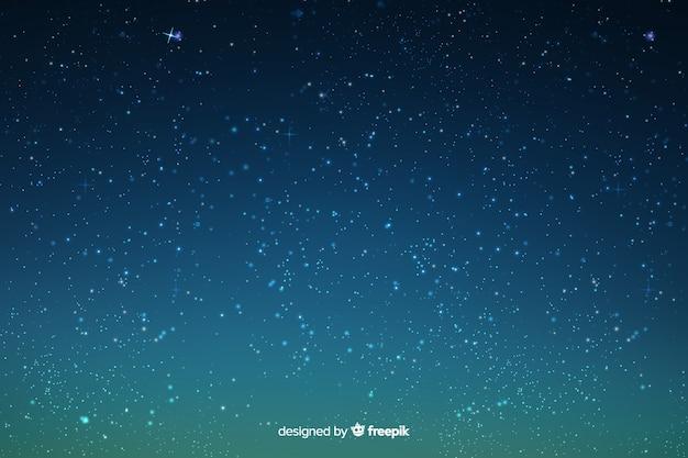 グラデーション空の背景の星