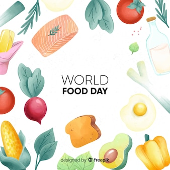 水彩世界食の日
