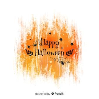 Оранжевый акварель счастливый фон хэллоуин