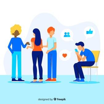 Социальные медиа убивают дружбу с иллюстрацией
