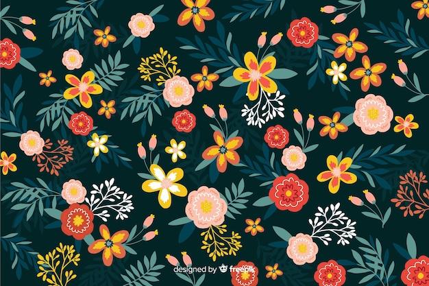 Плоский красивый цветочный стиль