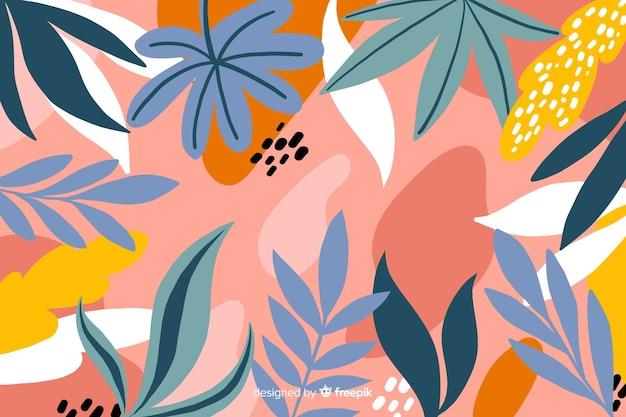 手描きの花柄のデザインの背景