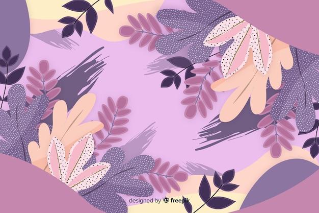 抽象的な花の背景手描きデザイン