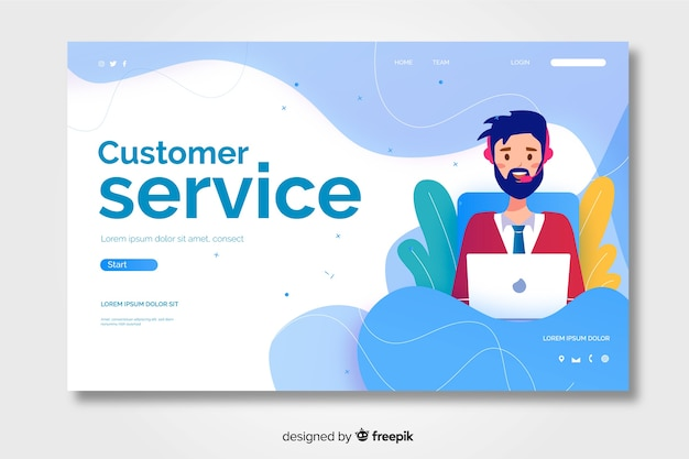 Свяжитесь с нами целевая страница обслуживания клиентов