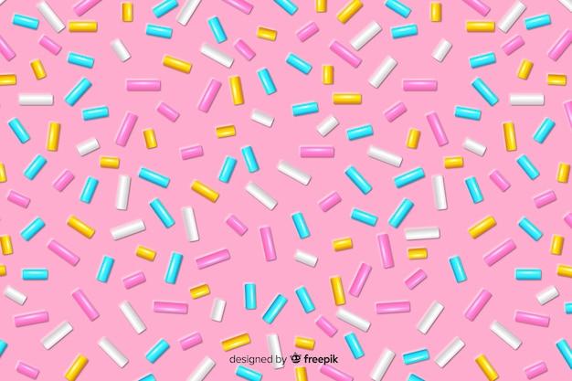 Сладкая глазурь с пончиками