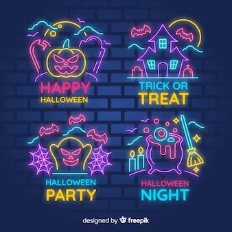 Хэллоуин неоновая вывеска