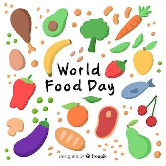 手描きの世界食の日