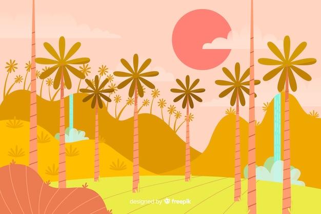熱帯林の風景の背景