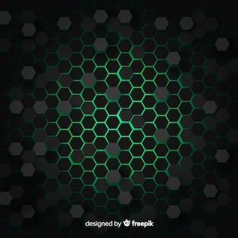 Технологический сотовый фон в зеленый