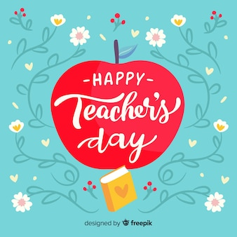 手描きの世界教師の日のコンセプト