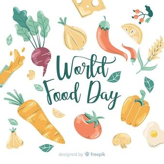 手描きの世界の食べ物の日