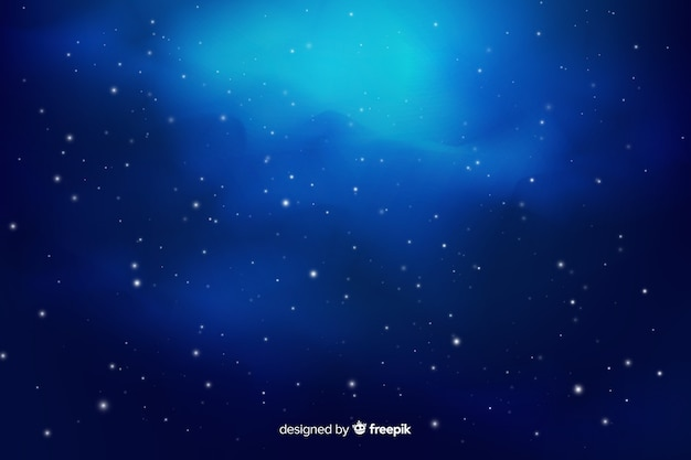 グラデーション星空の背景