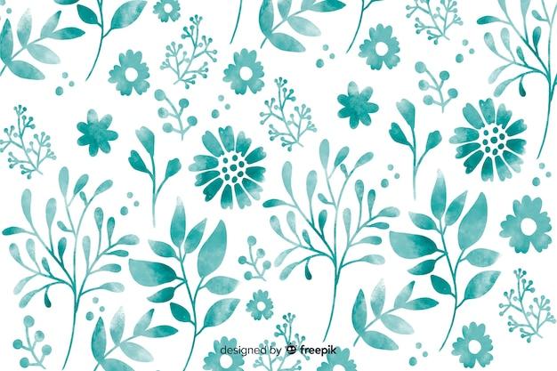 モノクロの水彩花の背景
