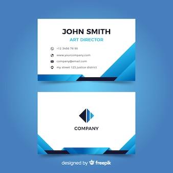 Абстрактный синий шаблон визитной карточки