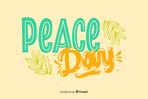 Концепция мирного дня с буквами