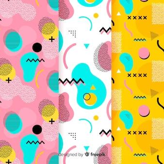抽象的なメンフィスアボカドパターン設計