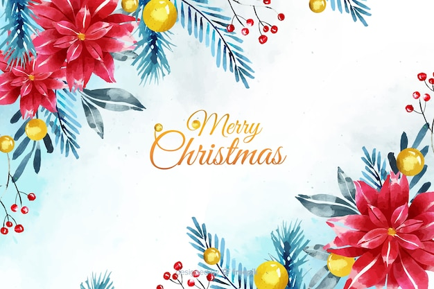 水彩のクリスマス背景