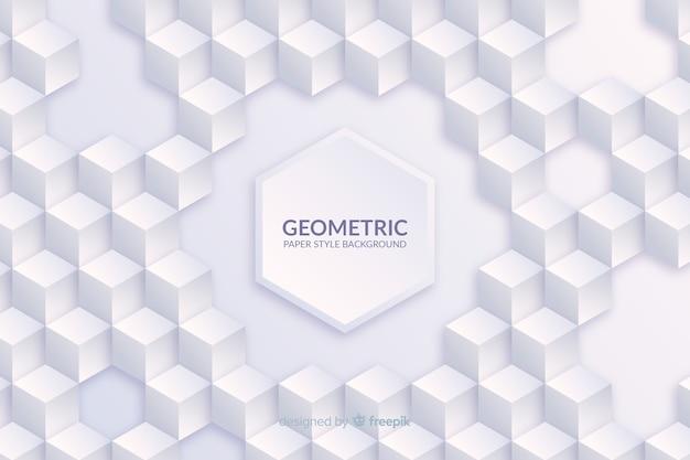 紙のスタイルで幾何学的図形の背景