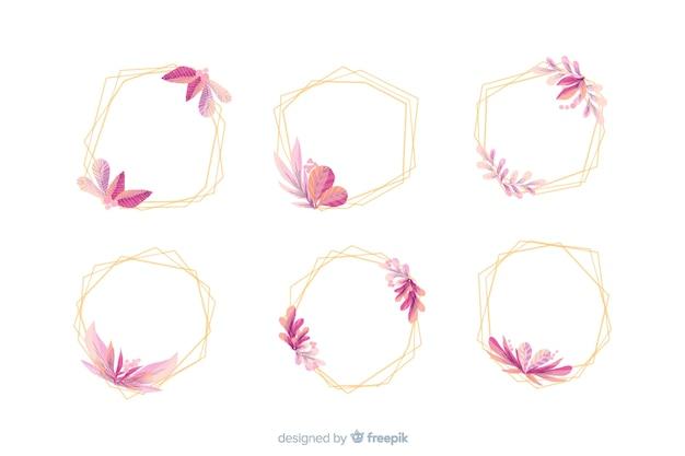 Коллекция акварельных свадебных рамок логотипов