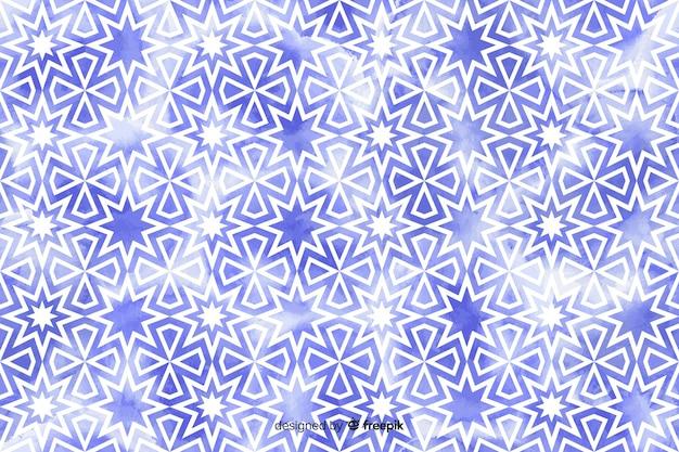 水彩花モザイクの背景