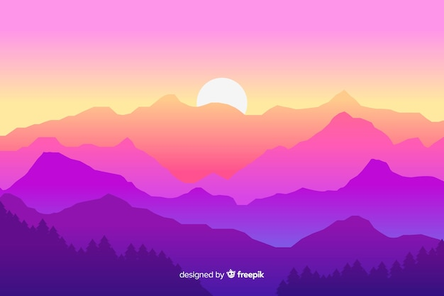 山の風景の背景
