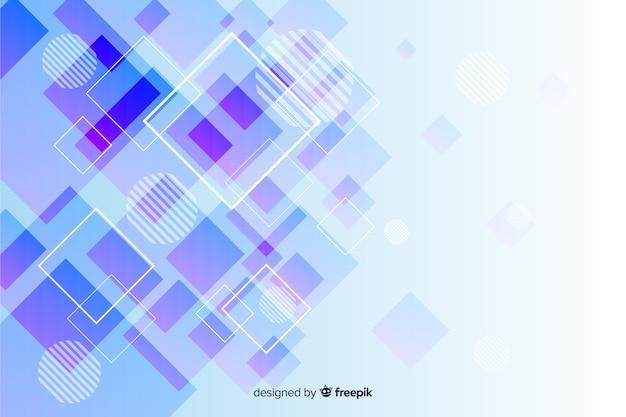 幾何学的図形のコレクションの背景