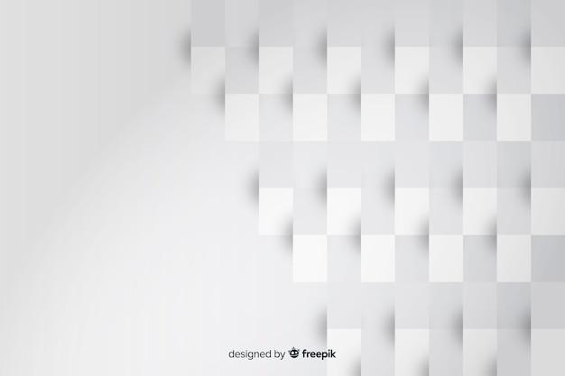 用紙の背景から四角形の幾何学的図形