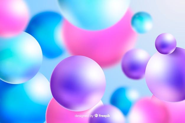光沢のあるプラスチック製のカラフルなボールの背景
