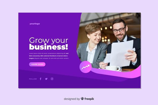 画像でビジネスのランディングページを拡大する