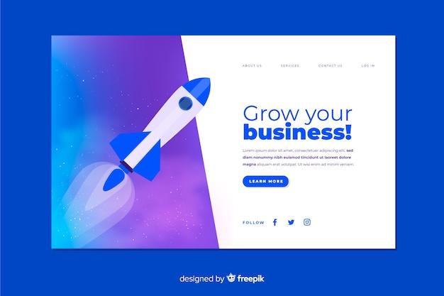 ビジネスのランディングページを拡大する