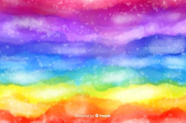 抽象的な虹絞り染めの背景