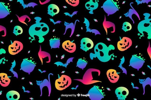 Градиентный фон хэллоуин