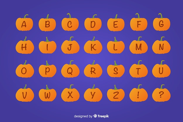 ハロウィンかぼちゃのアルファベット