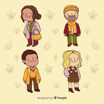 Люди в осенней одежде