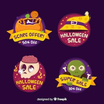 Ручной обращается коллекция хэллоуин продажи этикетки