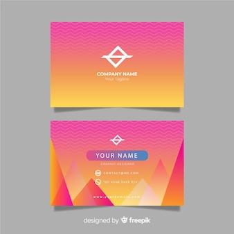 Шаблон градиентной визитки