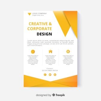 抽象的なビジネスチラシデザイン