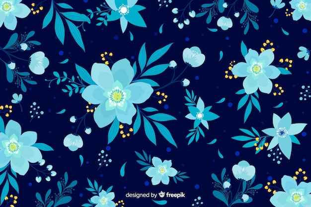 Плоский красивый цветочный фон
