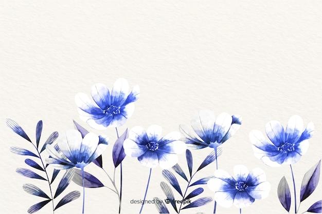 Монохромные акварельные цветы фон