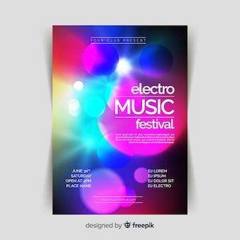 Музыкальный плакат с абстрактным световым эффектом