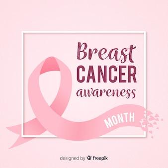 リボンで平らな乳がんの意識
