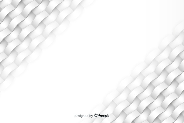 紙のスタイルで白の幾何学的図形の背景
