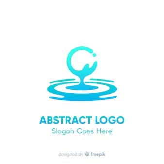Шаблон логотипа градиента с абстрактной формой